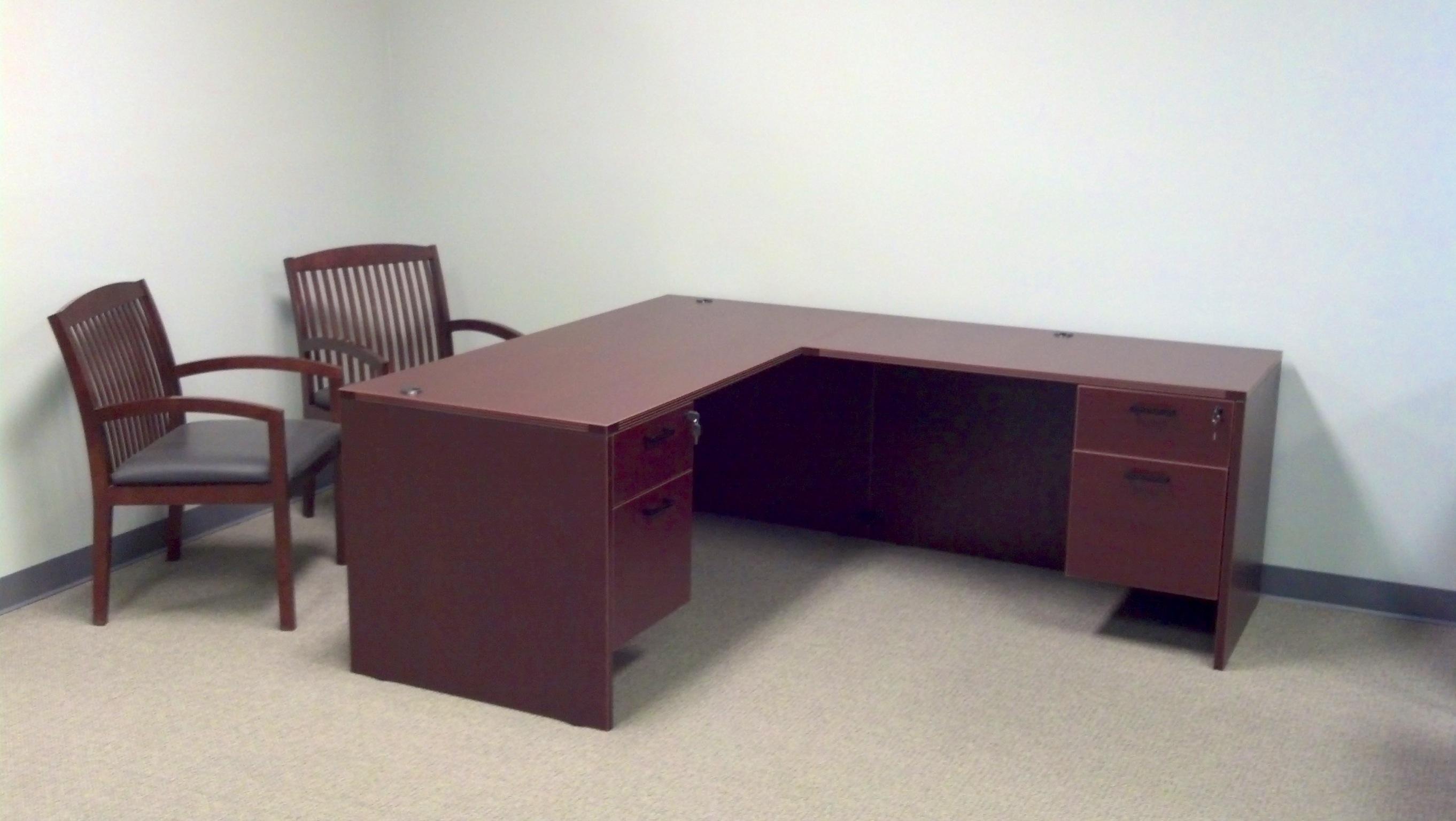 Cherryman L Desk Amber Series