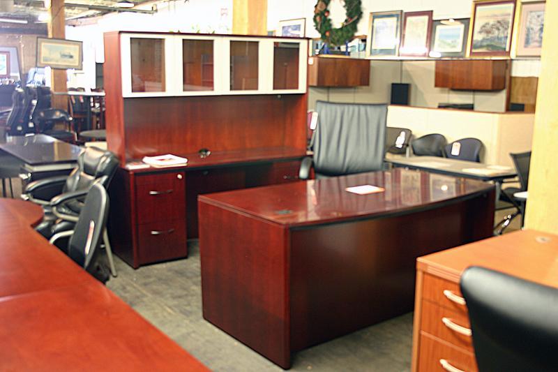 Mayline Corsica Desk and Credenza