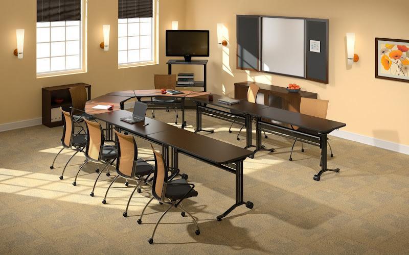 Mayline horseshoe training room tables nashville office for Training room design ideas