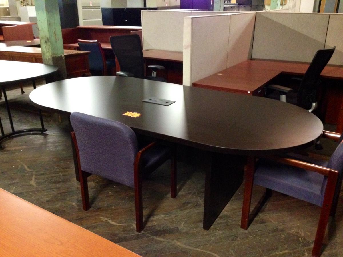 Used 8 Ft Mahogany Conference Table Nashville Office Furniture