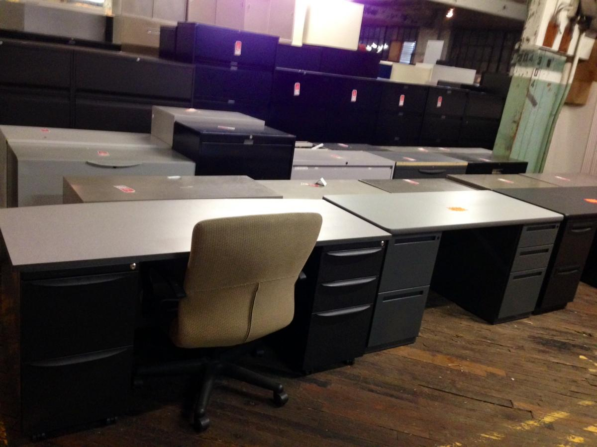 Used Desks with Pedestals