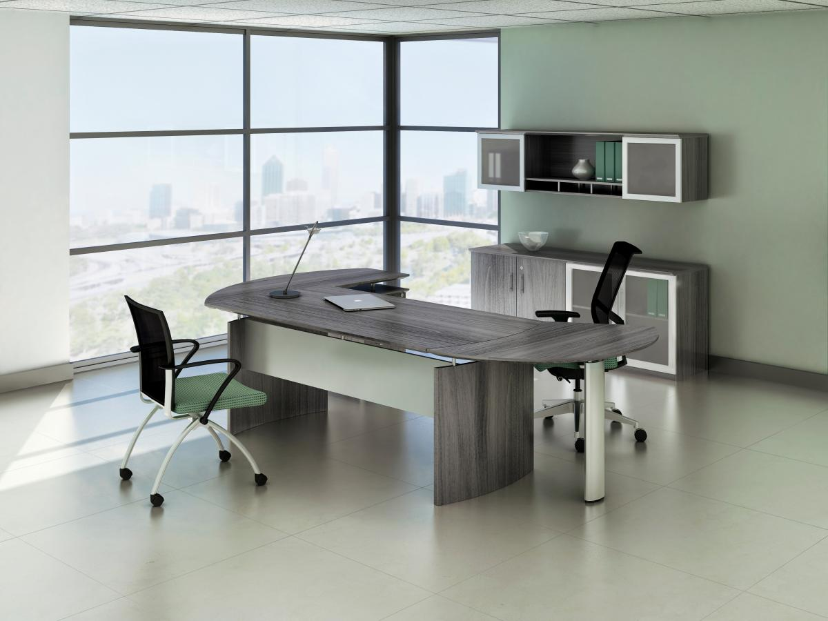 Mayline Medina Desk with Curved End Returns
