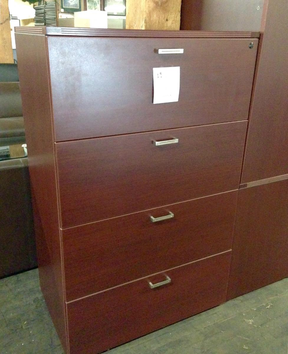 Cherryman Amber Series 4 Drawer Lateral File Cabinet