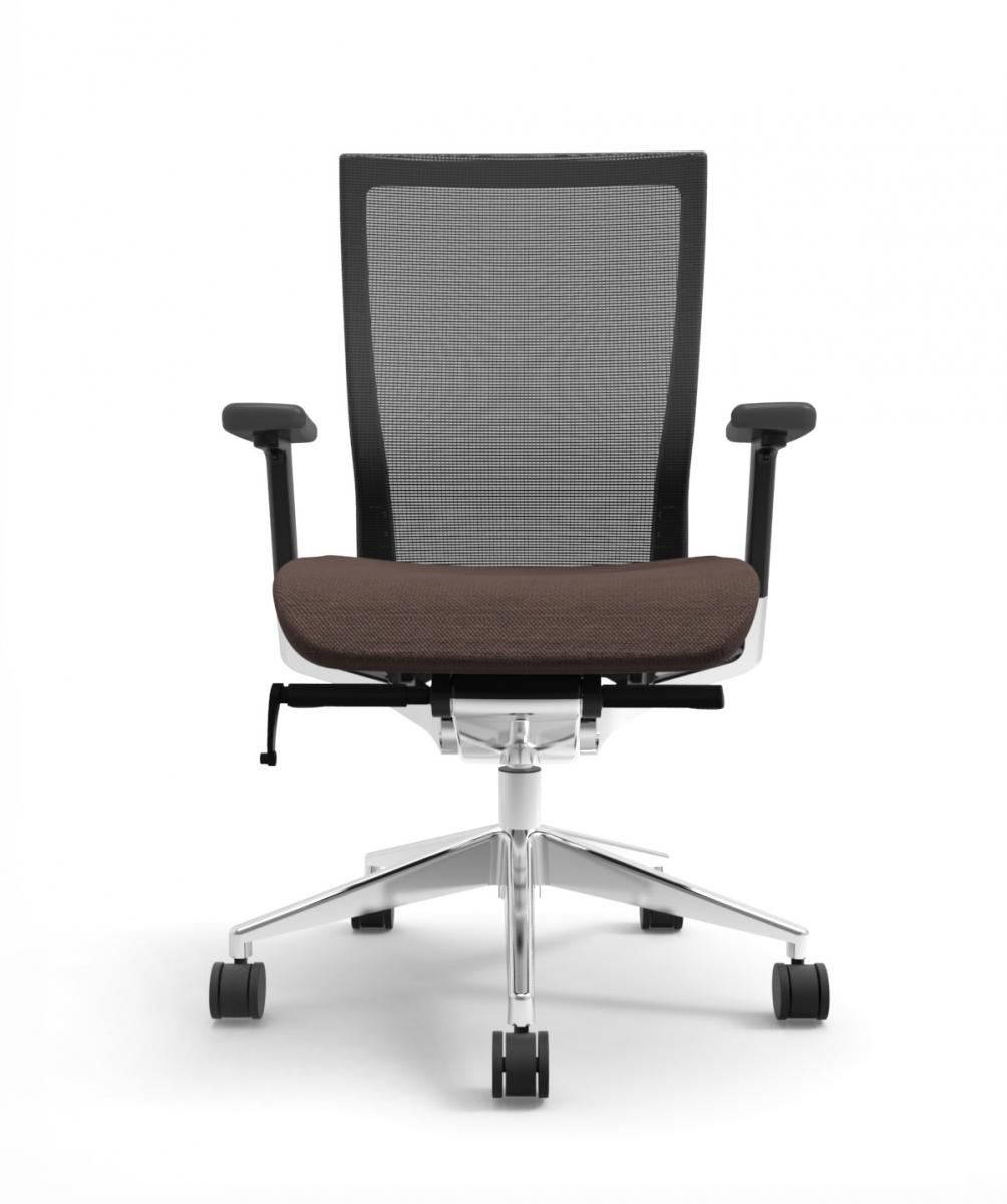 Cherryman IDesk Oroblanco Task Chair - Black Frame with Brown Seat