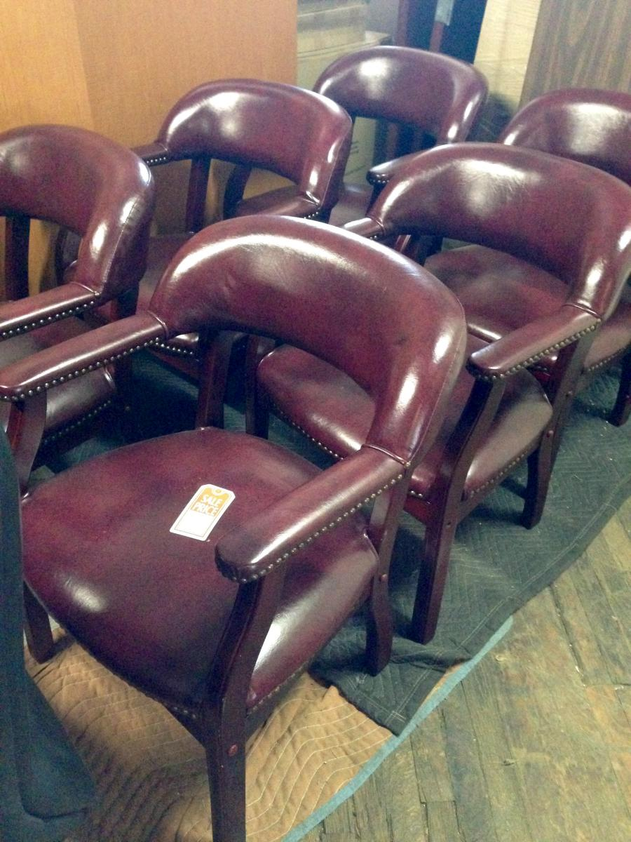 USED Burgundy Captain Chairs