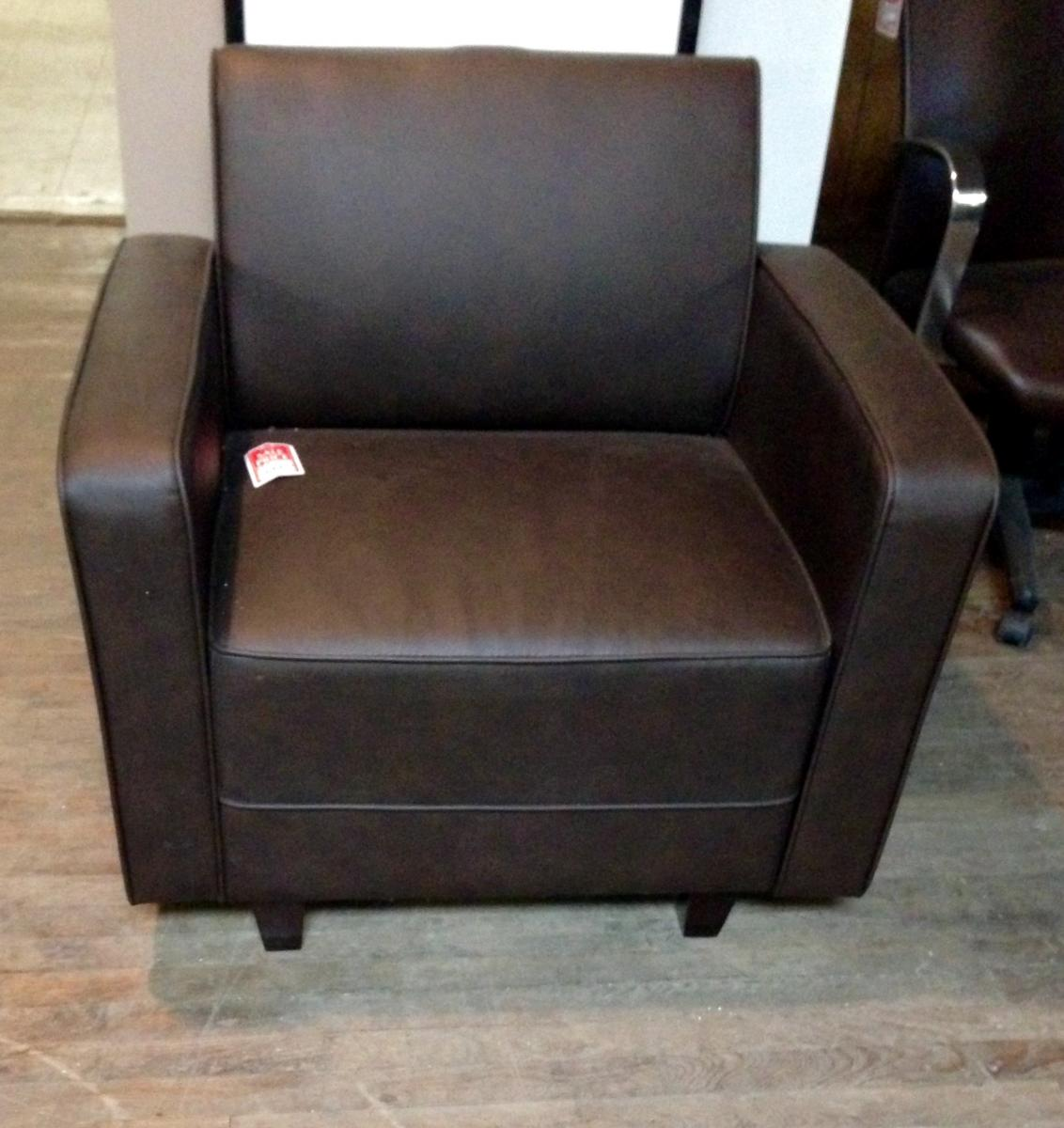 Closeout Brown Guest Chair