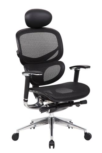 Boss B6888-HR Executive Mesh Task Chair with Headrest