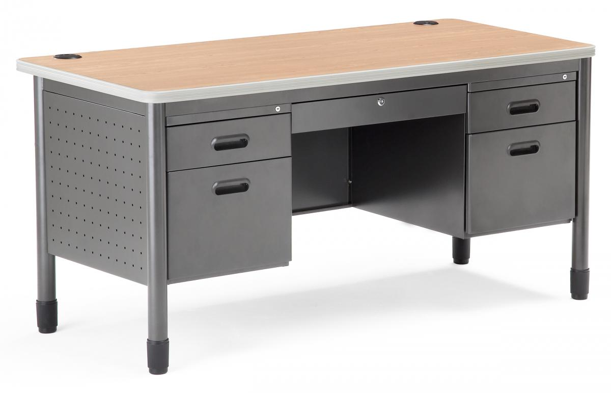 OFM Mesa Series Double Pedestal Teacher's Desk