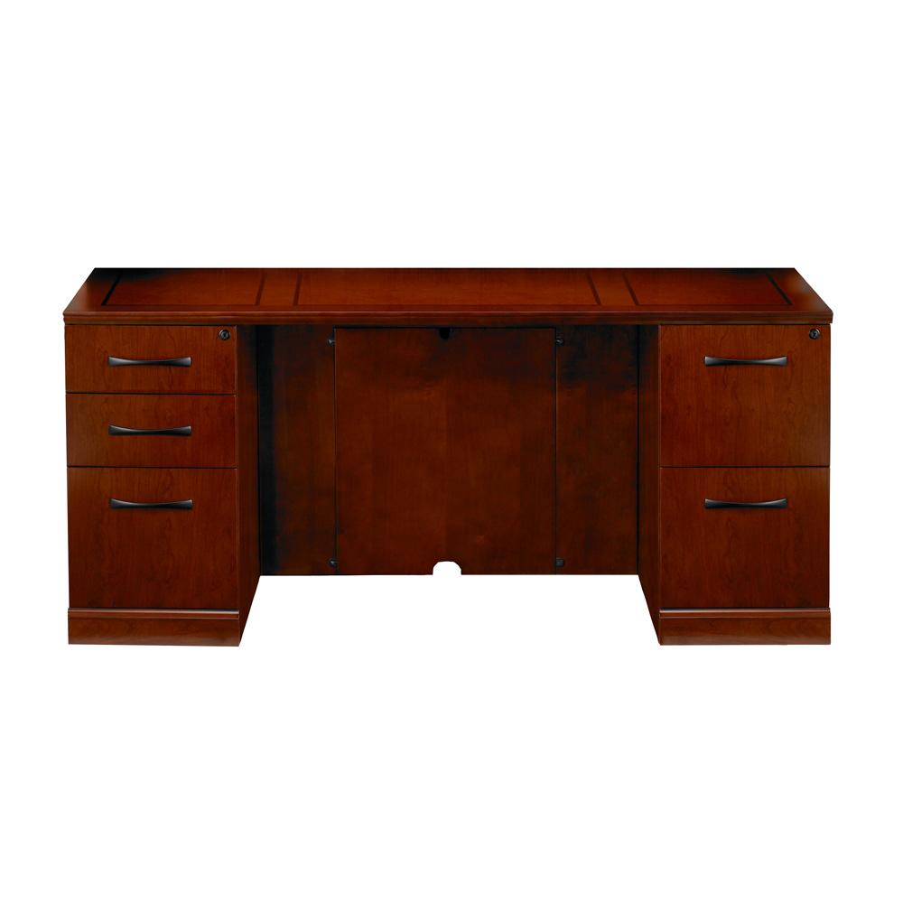 Mayline Sorrento Double Pedestal Credenza Desk Nashville