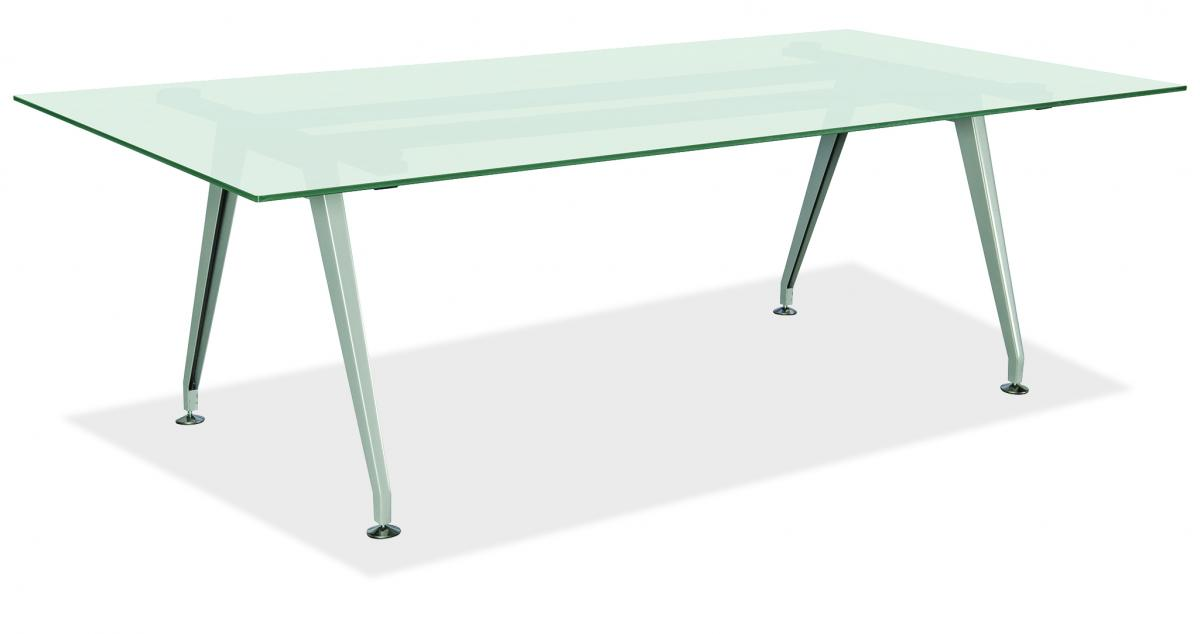 Office Source Frosted Glass Conference Table