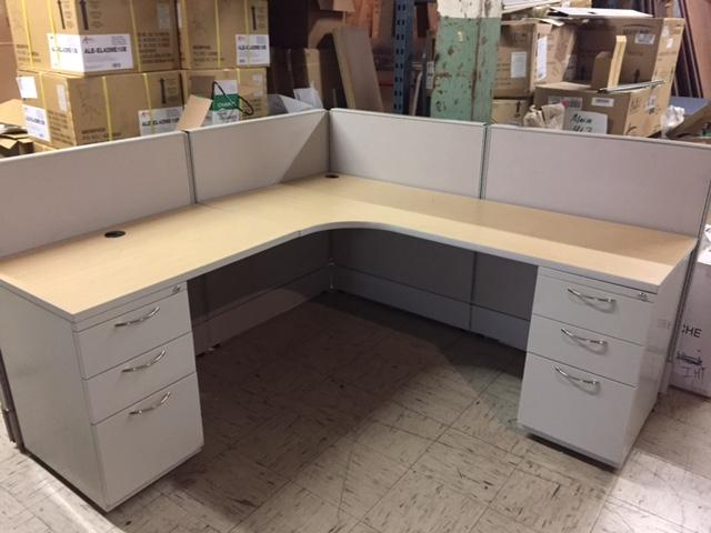 USED AIS Low Wall Workstations