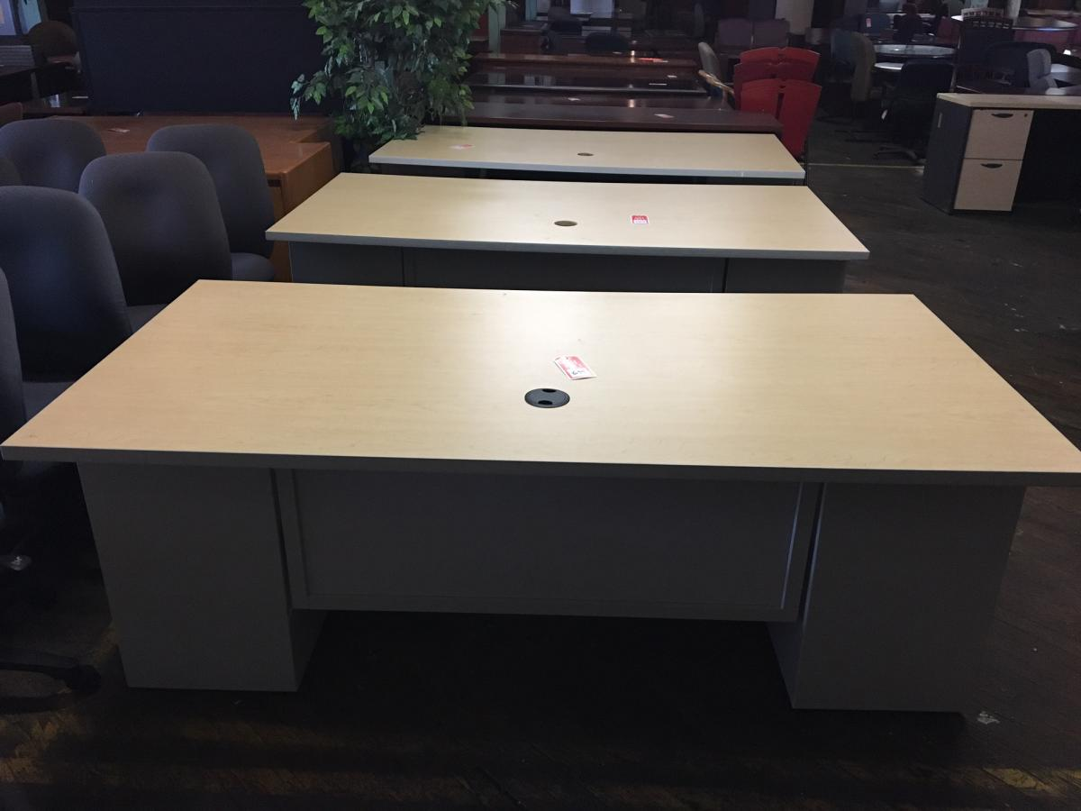 USED AIS Maple Desks