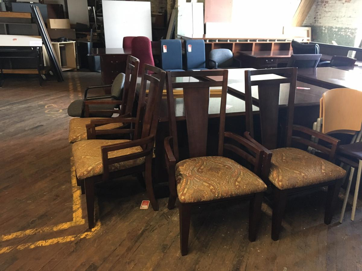 USED Wood Frame Guest Chairs