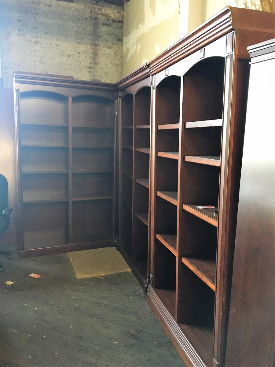 Used traditional wooden bookcases nashville office furniture