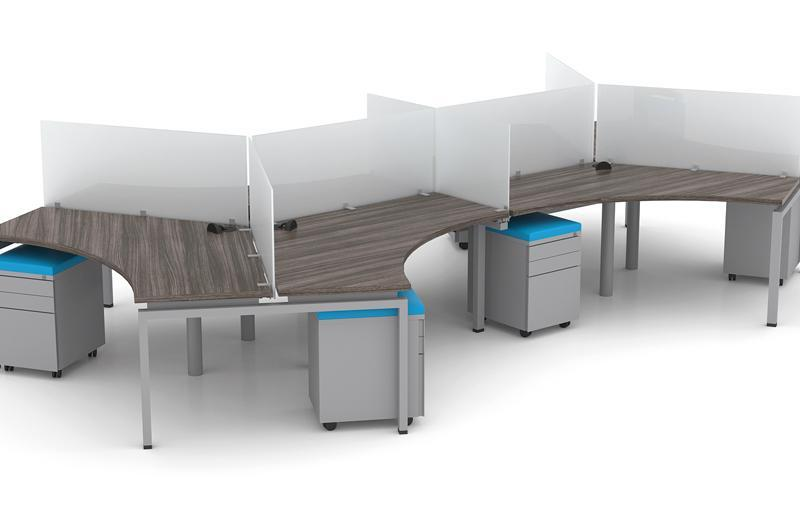 Clear Design Blade Series 120 Degree Workstations