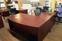 Compel Bowfront L Shape Desk