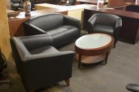 Flash Leather Loveseat, Club Chairs - 4090