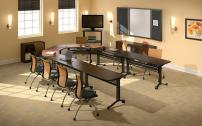 Mayline Horseshoe Training Room Tables