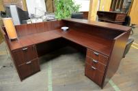 Compel Mahogany Reception Desk