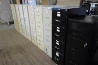 lateral files 4 drawers tan and black