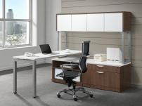 NDI PLT1 Floating Desk with Hutch