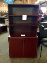 Cherryman Amber Series Open Storage Hutch with 2 Door Cabinet
