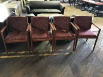 USED Steelcase Wood Frame Guest Chairs - 186