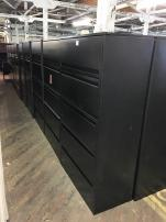 Used Haworth 5 Drawer Lateral File Cabinets - 243