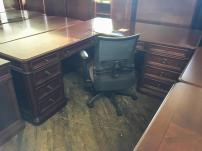 USED Flexsteel Walden Series - Executive L Desk - 197