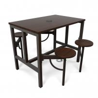 OFM Endure Series Standing Height Four Seat Table