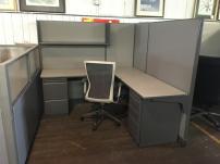 USED Haworth UniGroup Workstation L Desk - 444