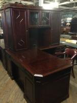 USED DMI Oxmoor Executive L Desk with Hutch - 216